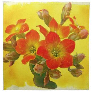 Red Kalanchoe - Succulent Sunshine Printed Napkin
