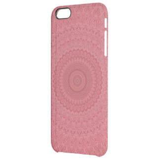 Red kaleidoscope clear iPhone 6 plus case