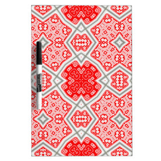 Red kaleidoscope dry erase board