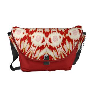 Red Kaleidoscope Messenger Bag