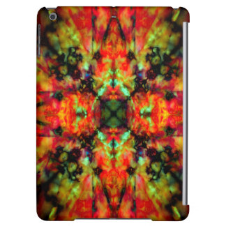 Red kaleidoscope star pattern cover for iPad air