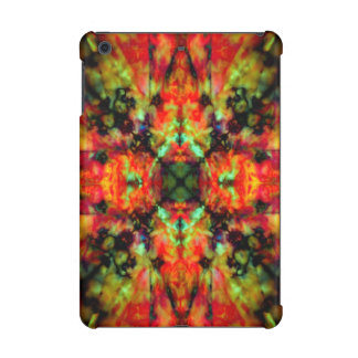 Red kaleidoscope star pattern iPad mini retina case