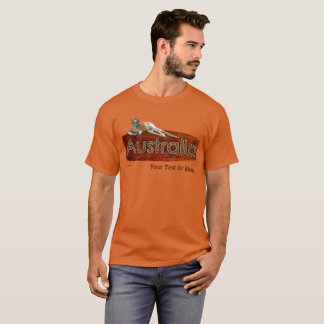 Red Kangaroo In Slouch Hat T-Shirt