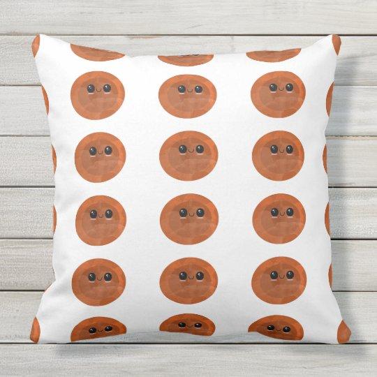 red kawaii mochi throw pillow