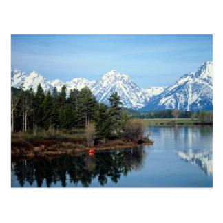 Red Kayak, Grand Teton National Park, USA Postcard