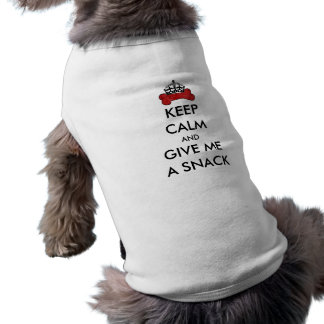 Red Keep Calm And Give Me A Snack Bone Template Shirt