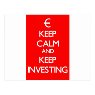 Red Keep Calm and Keep Investing Postcard