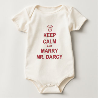 Red - Keep Calm and Marry Mr. Darcy Baby Bodysuit