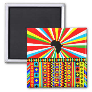 Red Kente Cloth Pattern African Print Magnet