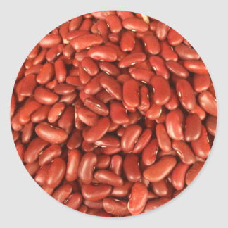 Red Kidney Beans Classic Round Sticker
