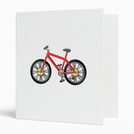 Red Kids Bike 3 Ring Binders