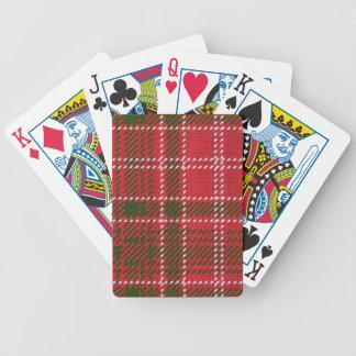 Red Kilt Tartan Poker Deck