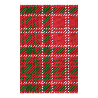 Red Kilt Tartan Stationery Design