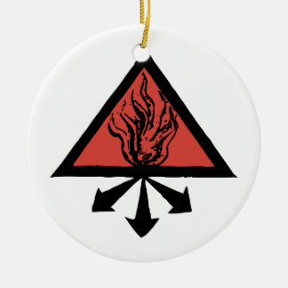 Red King Alchemy Round Ceramic Ornament