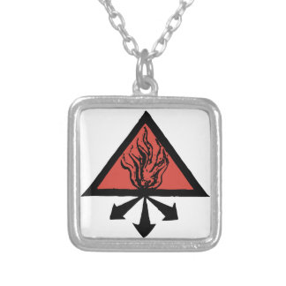 Red King Alchemy Silver Plated Necklace