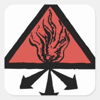 Red King Alchemy Square Sticker