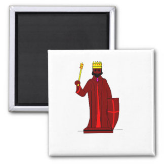 Red king / Chess Square Magnet