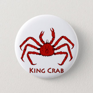 Red King Crab (color illustration) 2 Inch Round Button