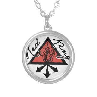 Red King Silver Plated Necklace