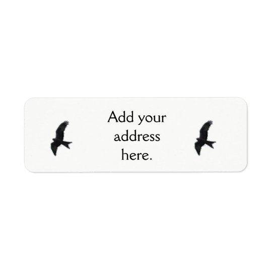 Red Kite Silhouette. Return Address Label