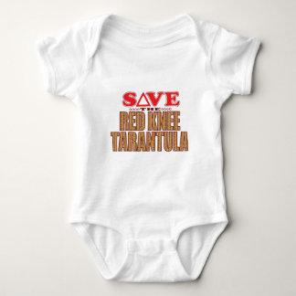 Red Knee Tarantula Save Baby Bodysuit