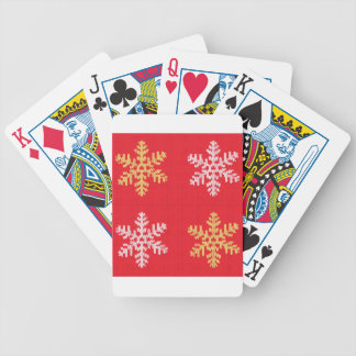 Red Knitted Snowflake Bicycle Playing Cards