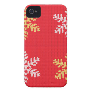 Red Knitted Snowflake Case-Mate iPhone 4 Cases