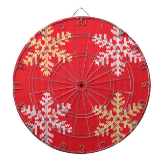 Red Knitted Snowflake Dartboards