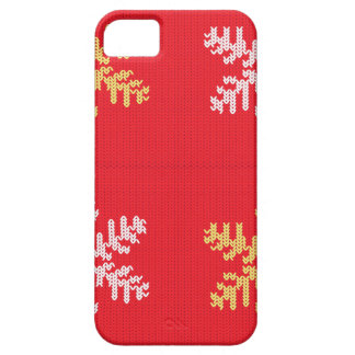 Red Knitted Snowflake iPhone 5 Case