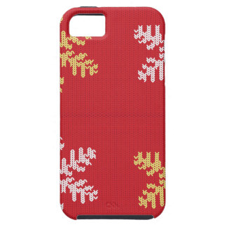 Red Knitted Snowflake iPhone 5 Covers