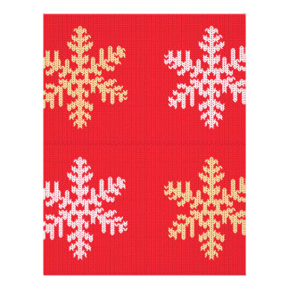 Red Knitted Snowflake Letterhead