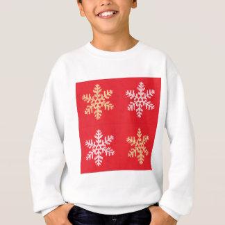 Red Knitted Snowflake Sweatshirt