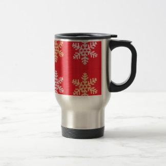 Red Knitted Snowflake Travel Mug