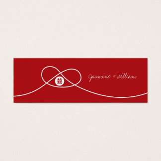 Red Knot Double Happiness Chinese Wedding Gift Tag