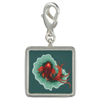 Red Koi Fish Charm