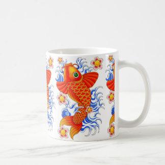 RED KOI FISH DESIGN COFFEE MUG