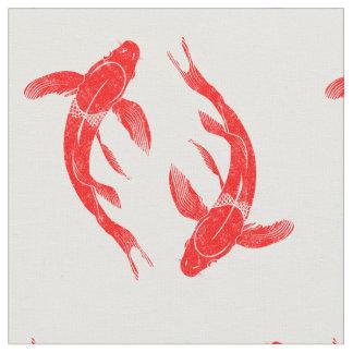 Red Koi Fish Fabric