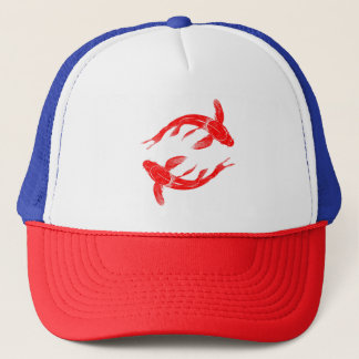 Red Koi Fish Trucker Hat