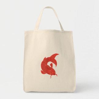 Red Koi Nishikigoi Carp Fish Drawing