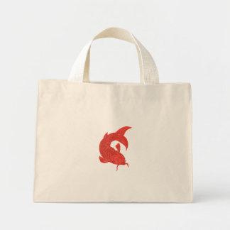 Red Koi Nishikigoi Carp Fish Drawing Mini Tote Bag
