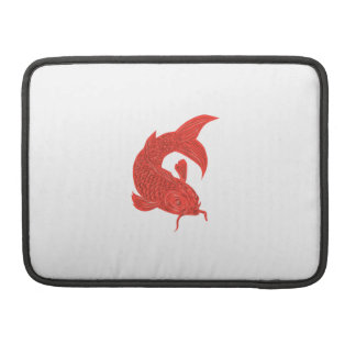 Red Koi Nishikigoi Carp Fish Drawing Sleeve For MacBook Pro
