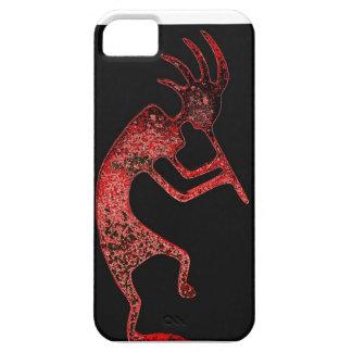 red kokopelli on black background case