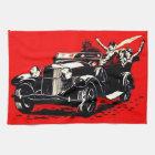 Red Krampus Kidnapping Women Car Kitchen Towel
