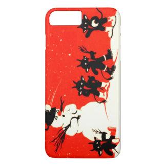 Red Krampus Snowball Fight Snowman Switch iPhone 7 Plus Case