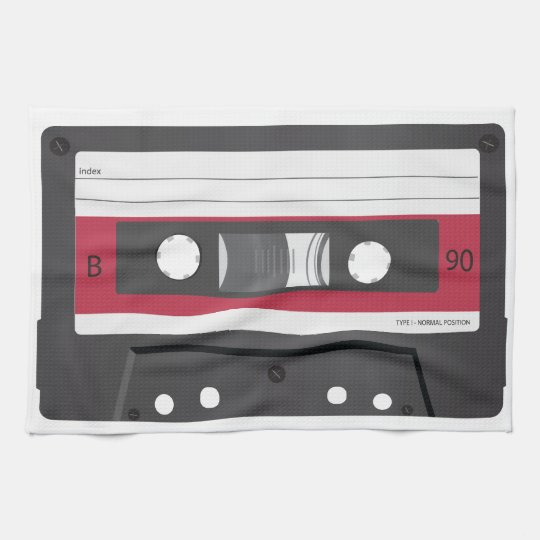 Red label Compact Cassette Towels