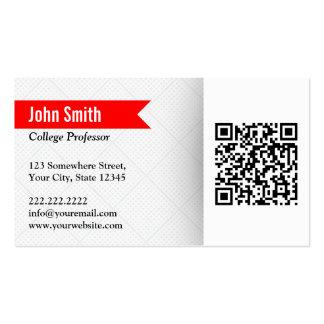 Red Label QR Code Professor Business Card