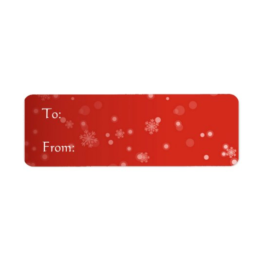 Red Label - Snowflakes Return Address Label
