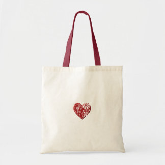 Red Lace Heart Budget Tote Bag