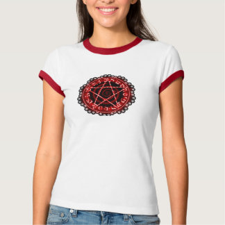 RED LACE PENTAGRAM T-Shirt
