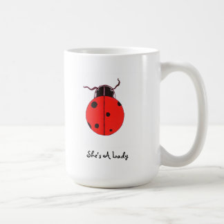Red Lady Bug Statement Mug